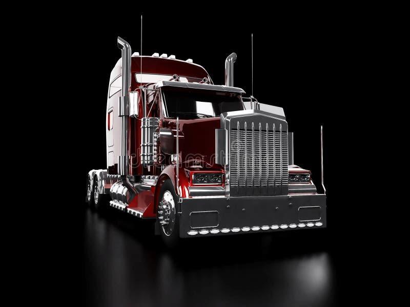 tung röd lastbil stock illustrationer