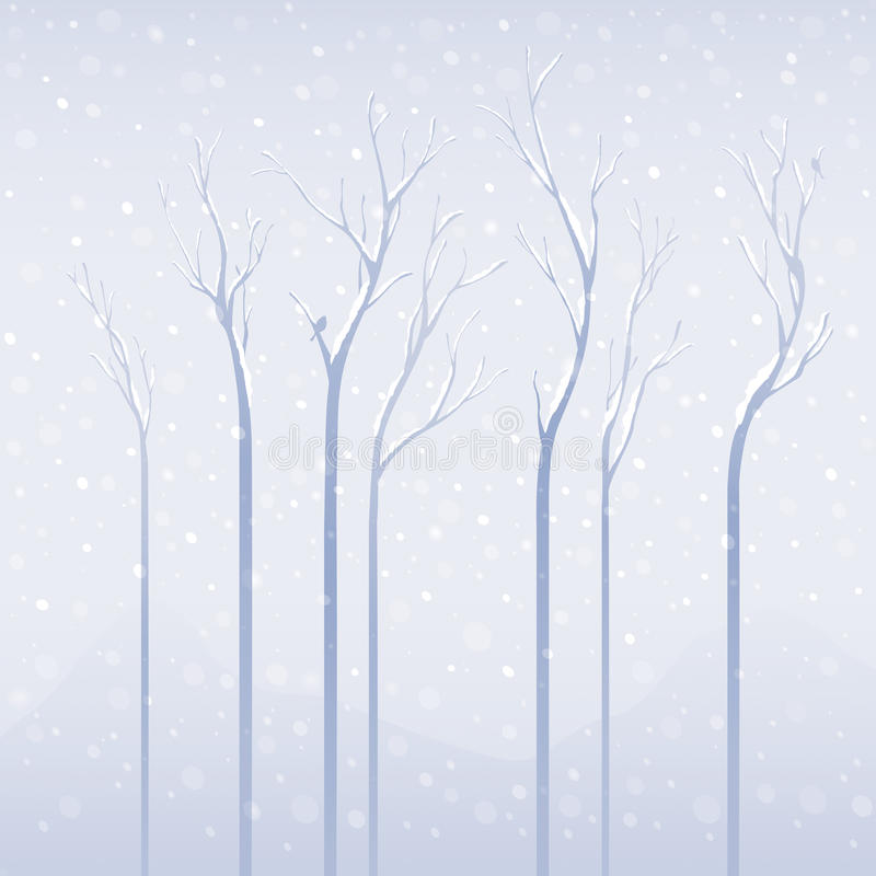 tung snow stock illustrationer