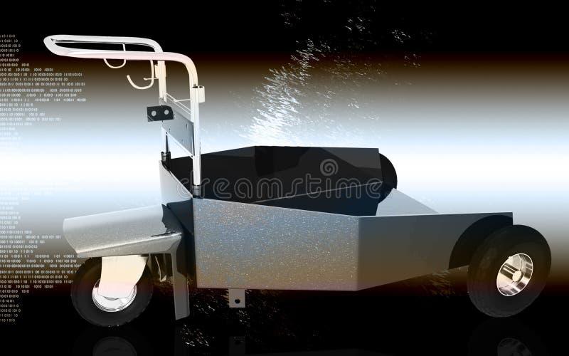 tung trolley för arbetsuppgift royaltyfri illustrationer