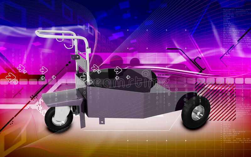 tung trolley för arbetsuppgift vektor illustrationer