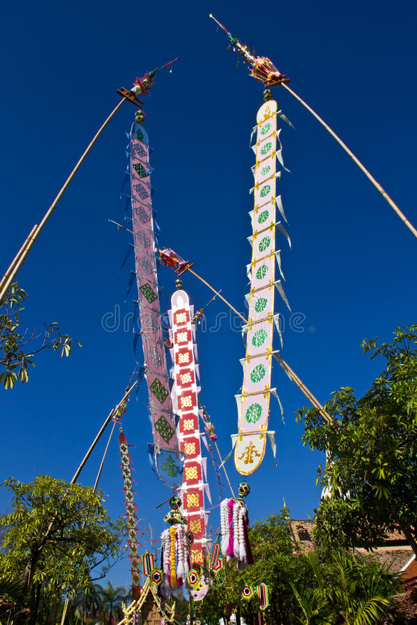 Tung in Wat Lanna feast royalty free stock photo