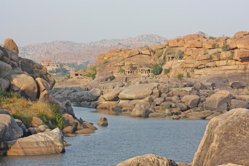 Download Tungabhadra river in hampi stock photo. Image of national - 23412856
