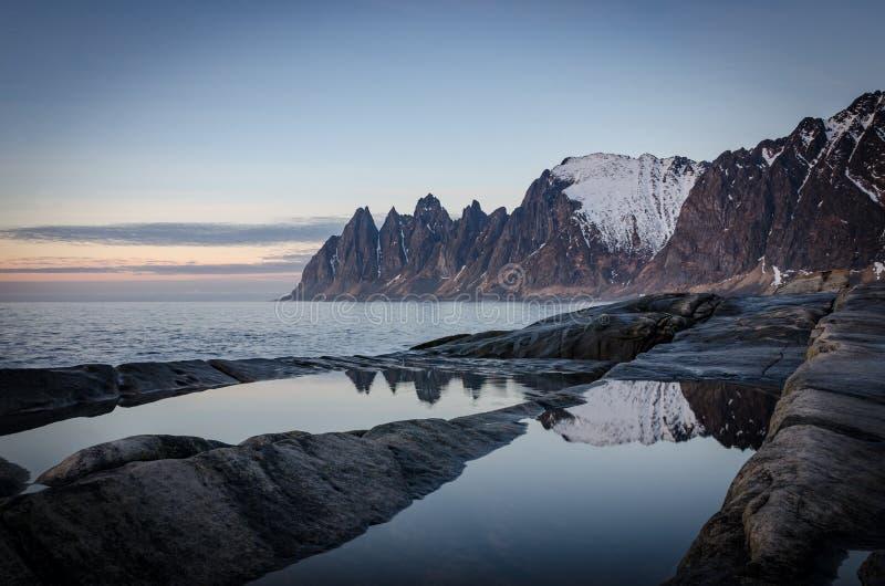 Tungeneset, Senja, βόρεια Νορβηγία στοκ φωτογραφία με δικαίωμα ελεύθερης χρήσης