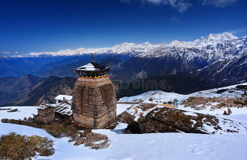 Tungnath är den Shiva templet arkivfoto