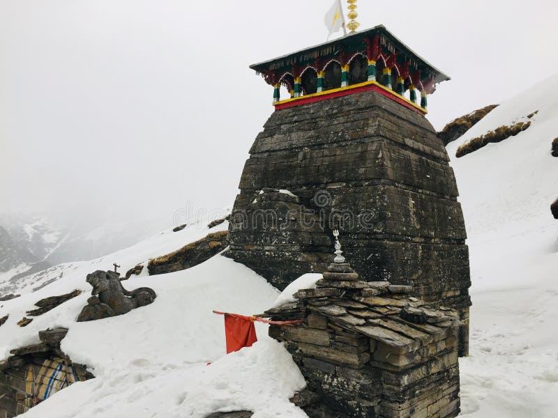 TUNGNATH-de hoogten world& x27 van shivalord; s hoogste shivatempel Uttrakhand stock fotografie