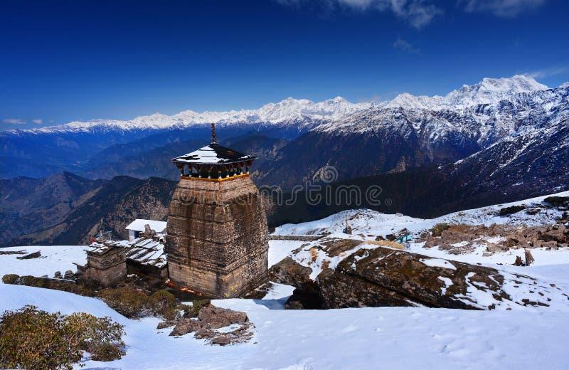 Tungnath es el templo de Shiva foto de archivo