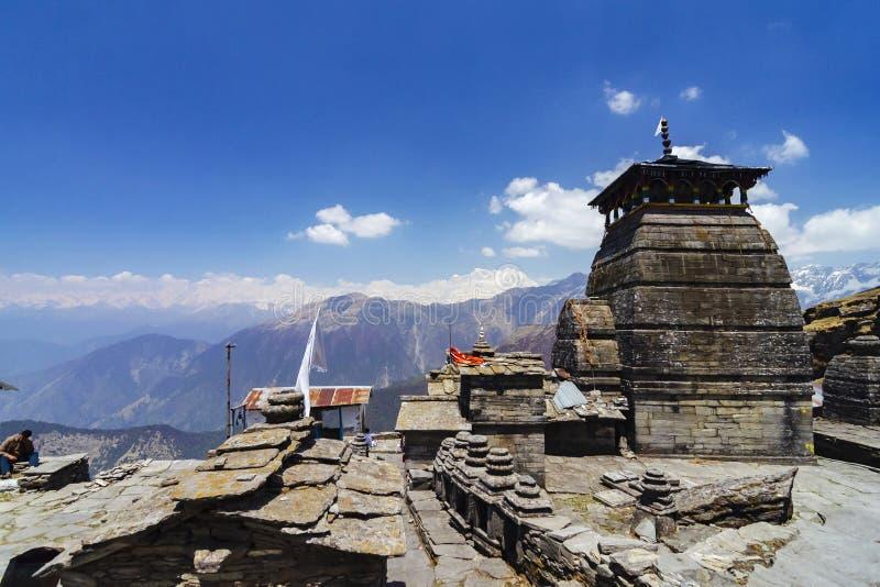 Tungnath tempel, Chopta, Garhwal, Uttarakhand, Indien royaltyfri bild