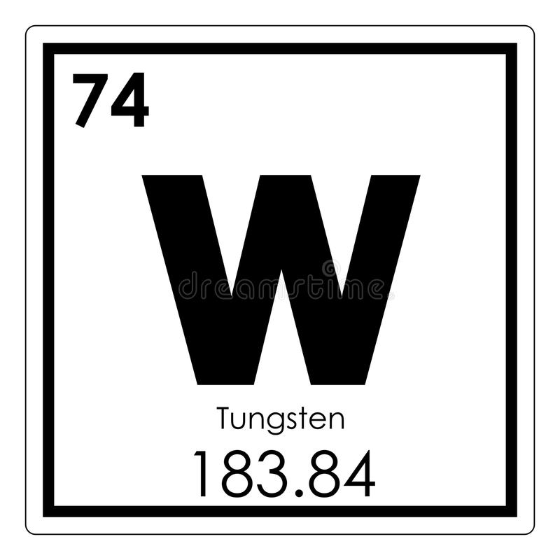 Tungsten chemical element vector illustration