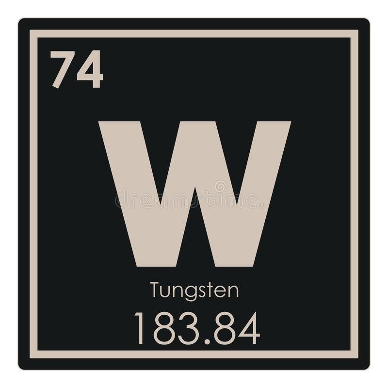 Tungsten Chemical Element Stock Illustration Illustration Of Geek
