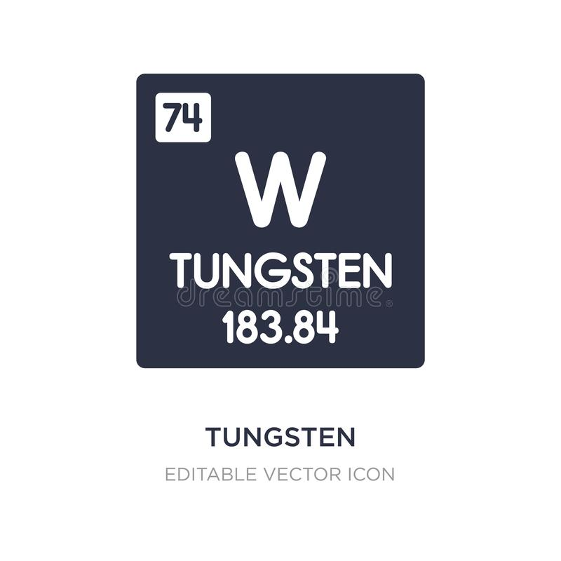 tungsten icon on white background. Simple element illustration from UI concept vector illustration