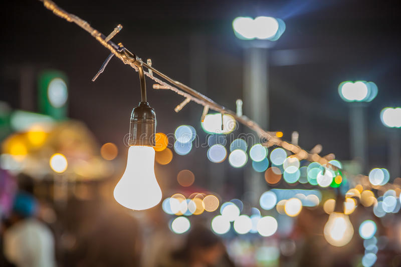 Download Tungsten Lamp With A Bokeh Stock Photo Image Of Light
