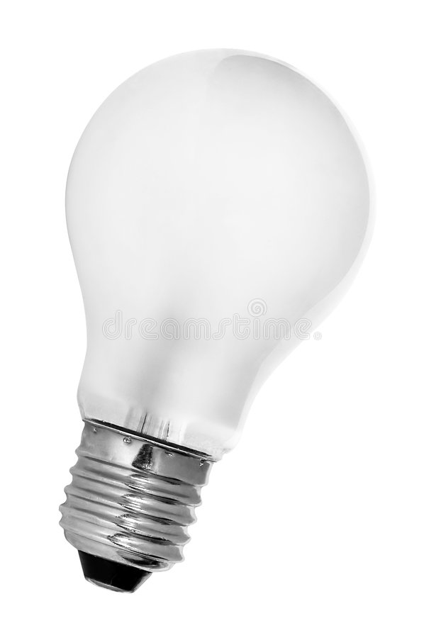 Tungsten Light Bulb. Isolated from background. File includes outline path for easy extraction royalty free stock photos