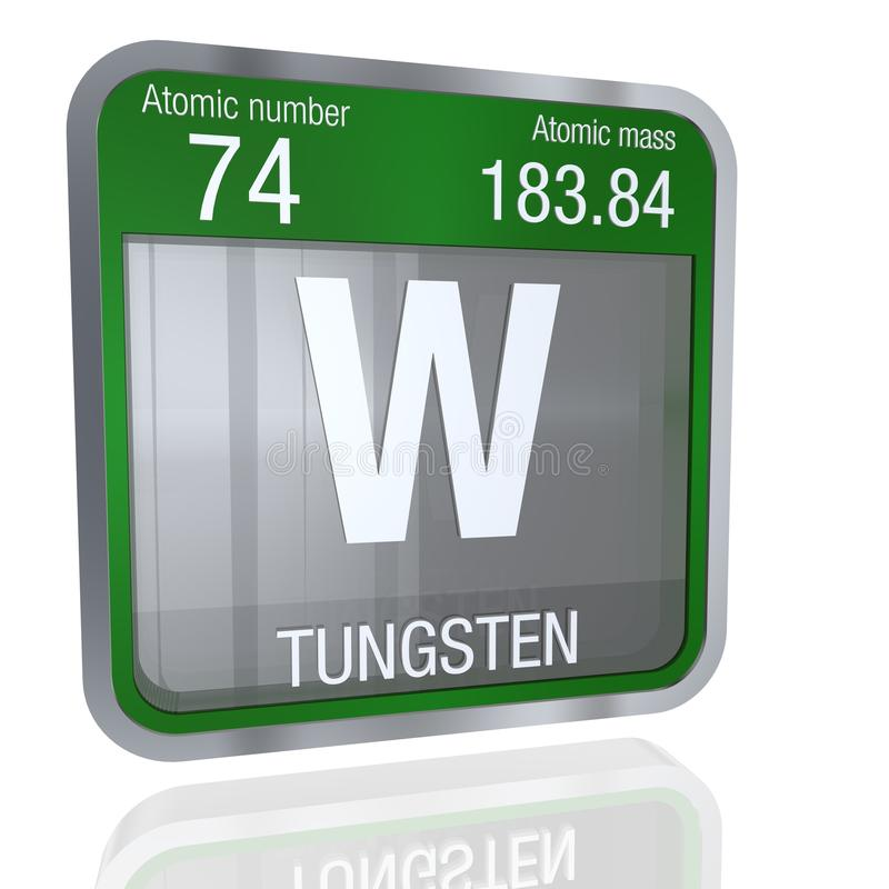 Tungsten symbol in square shape with metallic border and transparent download tungsten symbol in square shape with metallic border and transparent background with reflection on the urtaz Image collections
