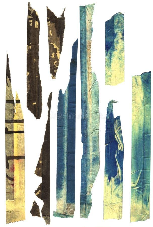 tungt maskerande gammalt nedfläckadt band royaltyfri illustrationer