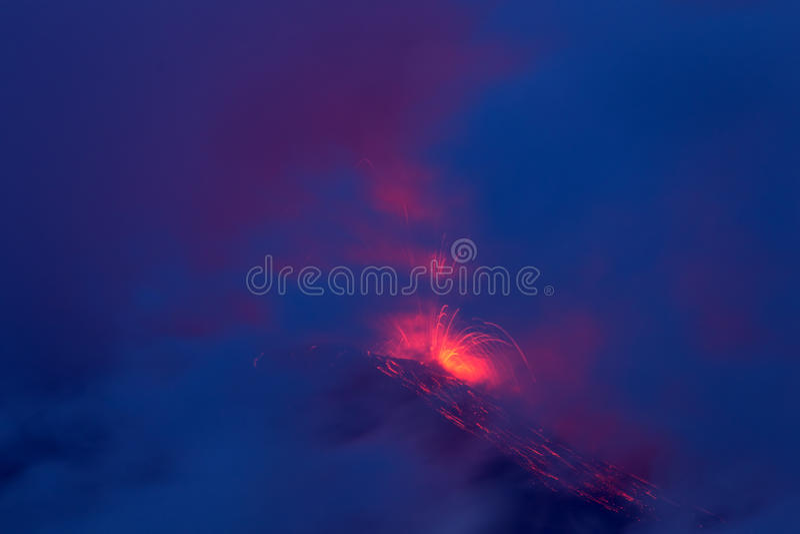 Tungurahua火山爆发 免版税库存照片