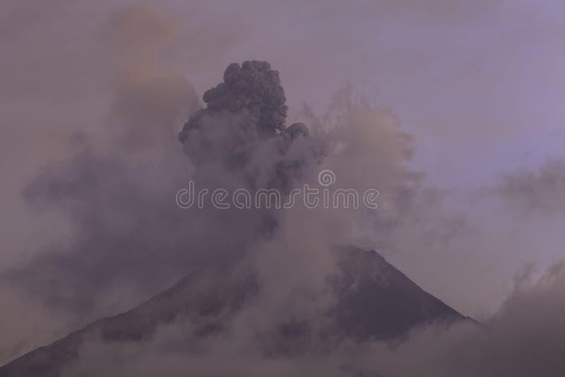 Explosion Of Tungurahua Volcano At Sunset stock photography