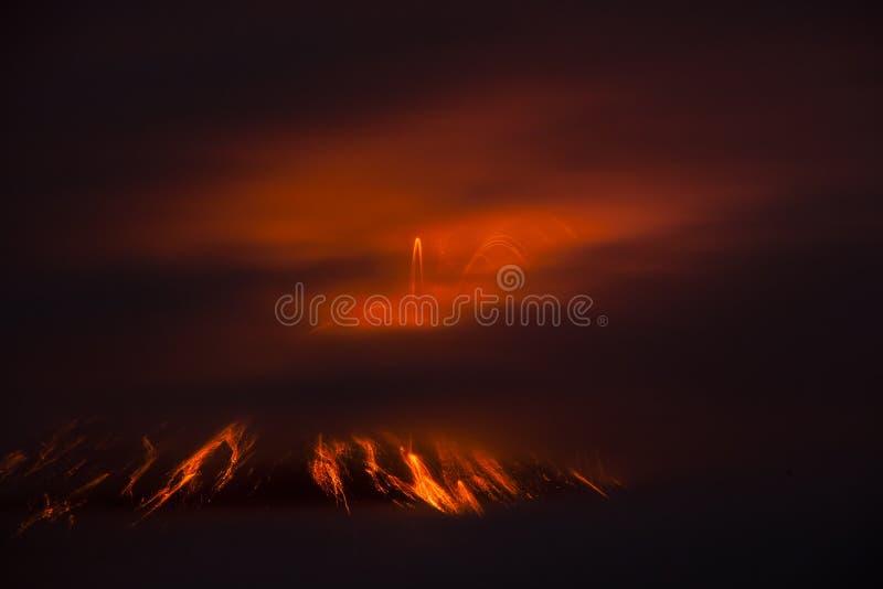 Tungurahua volcano explosion stock photography