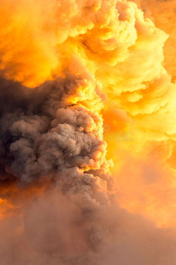 Tungurahua Volcano Super Powerful Explosion royalty free stock images