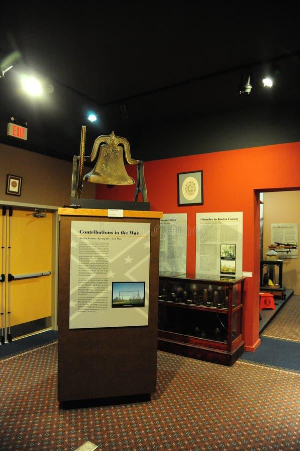 Tunicabidrag till inbördeskrigutställningen på Tunicamuseet i norr Mississippi royaltyfri foto