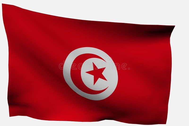Download Tunicia 3d flag stock illustration. Illustration of background - 7733369