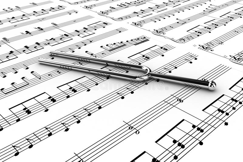 Download Tuning fork stock illustration. Image of notesheet, clef - 21953400