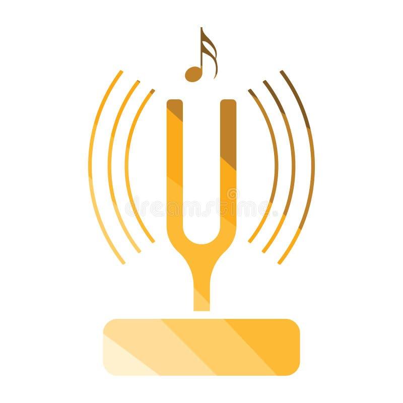 Tuning fork icon vector illustration