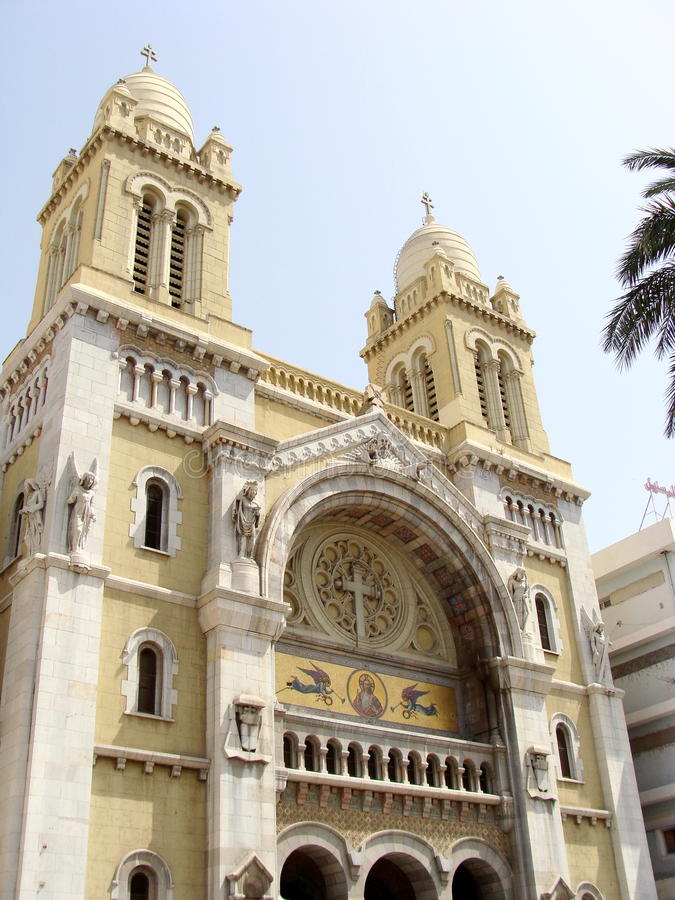 Download Tunis Cathedral stock image. Image of construction, church - 12994401