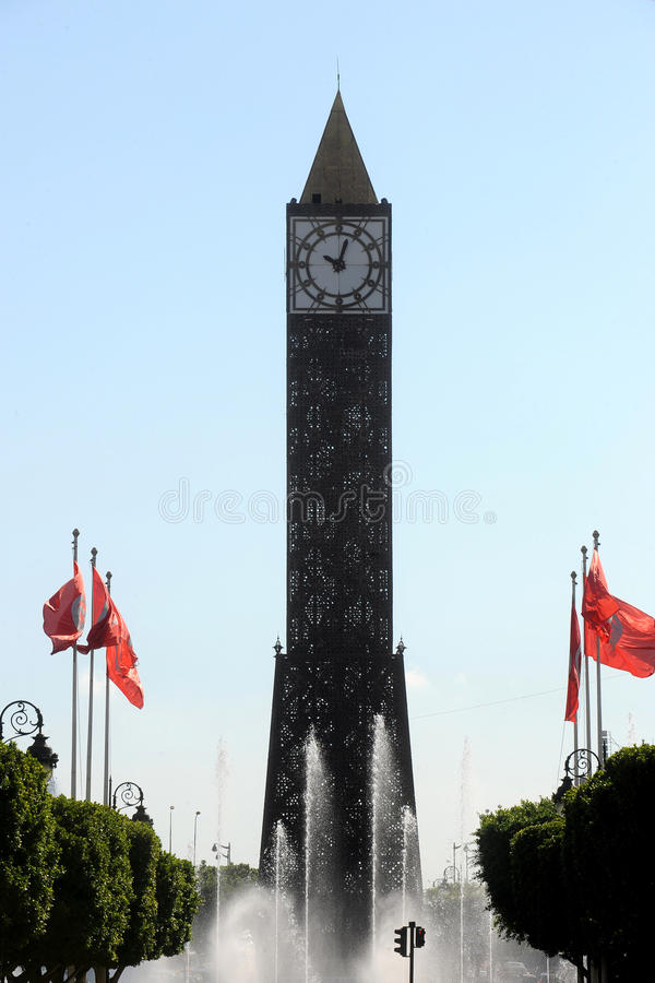 Tunis clock tower royalty free stock image