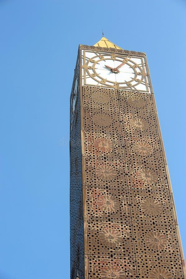 Tunis clock tower royalty free stock photo