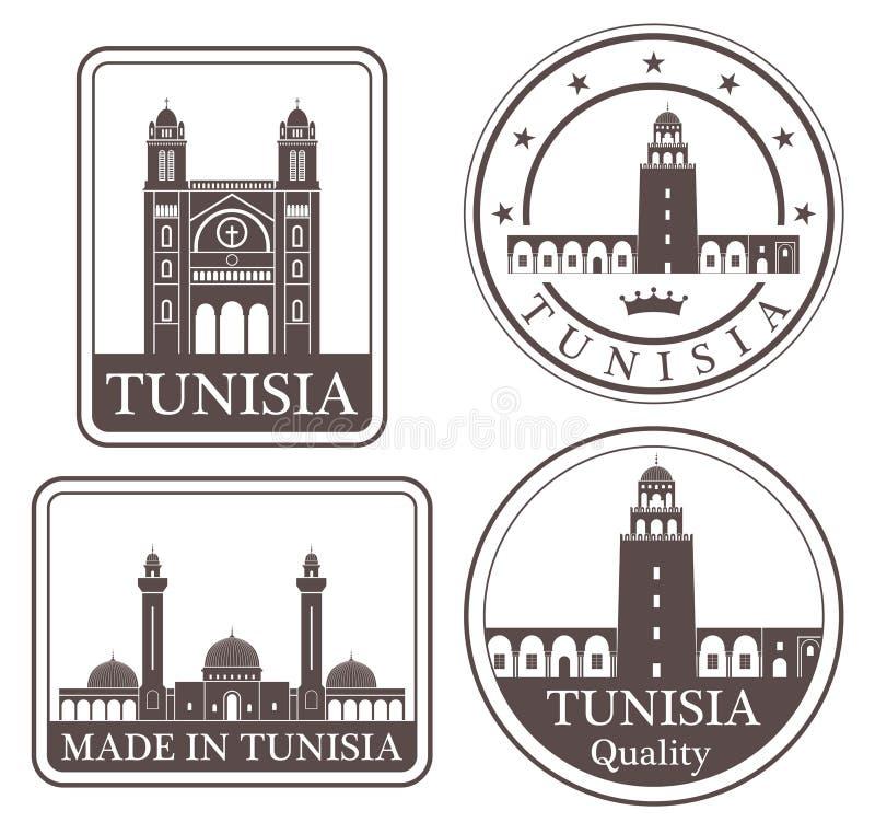 Tunisi astratta illustrazione vettoriale