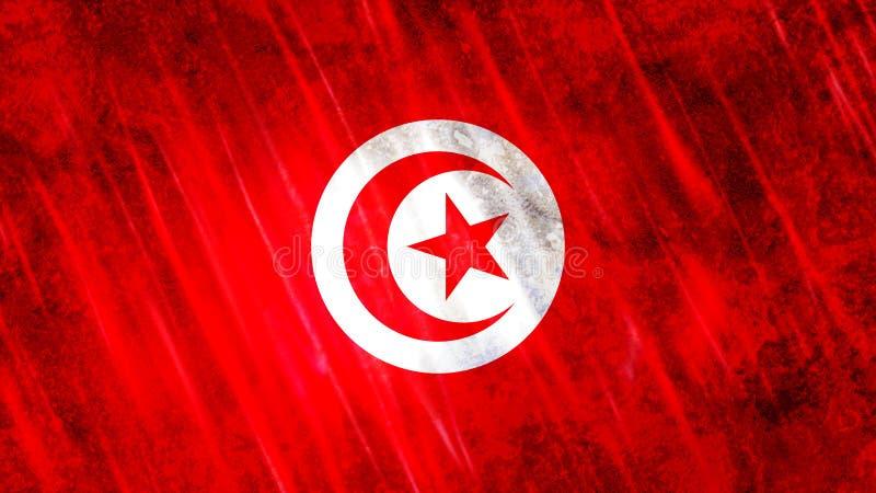 Tunisia Flag royalty free illustration