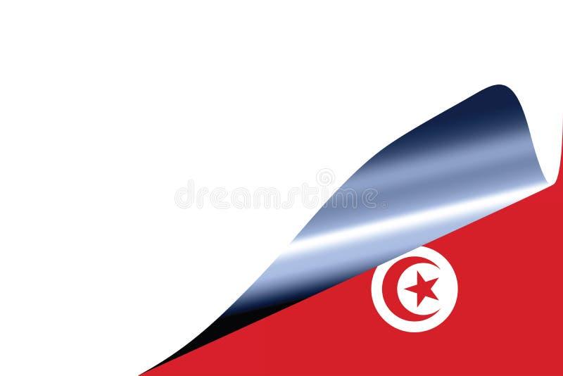 Tunisia flag on white stock illustration