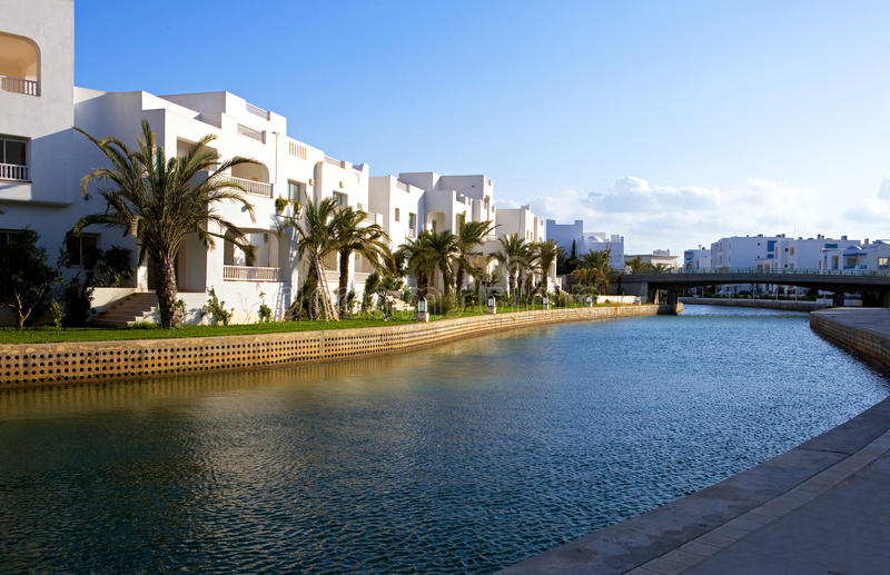 Tunisia. Hammamet, the sea turistic area of Yasmine stock image