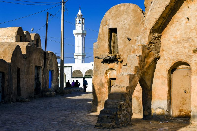 Tunisia.  Ksar Ouled Soltane royalty free stock image