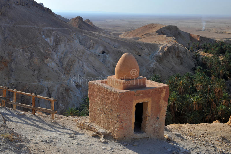 Tunisia- Oasis Chebika stock images