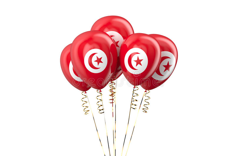 Tunisia patriotic balloons, holyday. Concept stock illustration