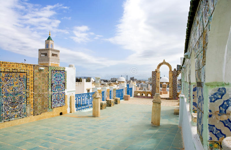 Tunisia. Tunis, view of traditional architectures from a Medina terrace royalty free stock photo