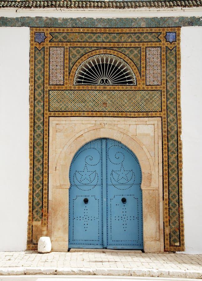 tunisian двери стоковое изображение