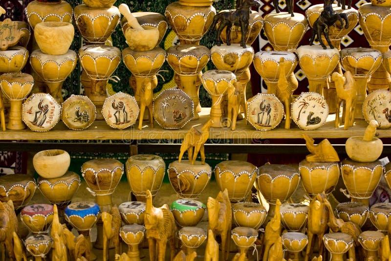 Tunisian bazaar trinkets royalty free stock photo
