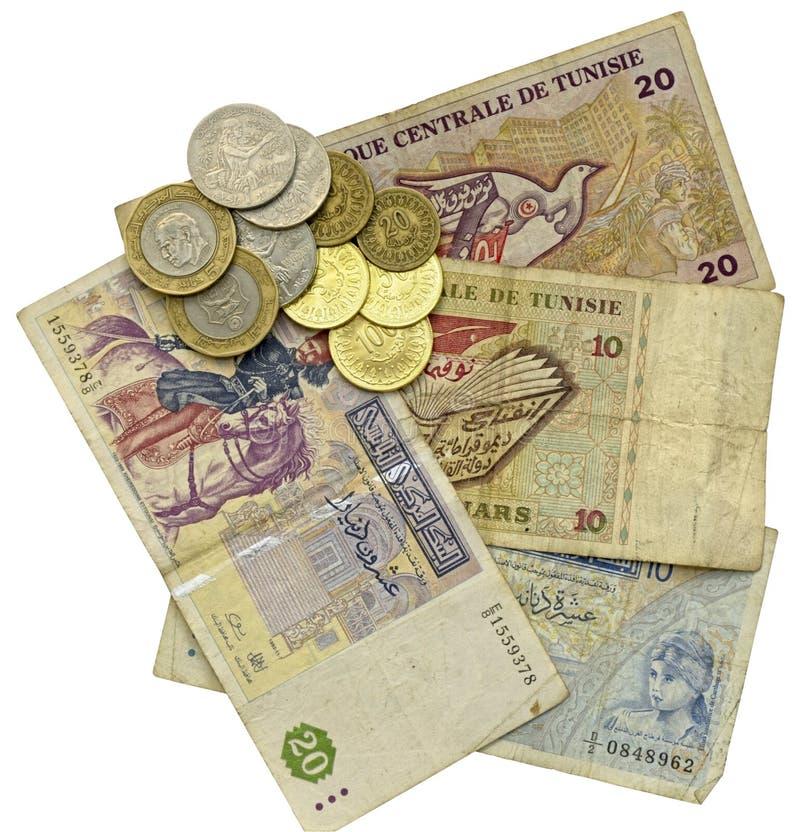 tunisian dinars royaltyfri fotografi