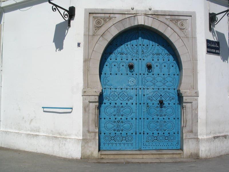 A tunisian door stock photography