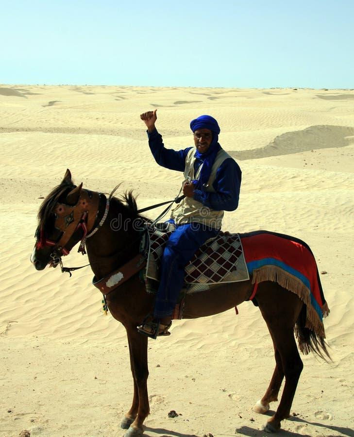 Tunisian em um cavalo imagens de stock royalty free