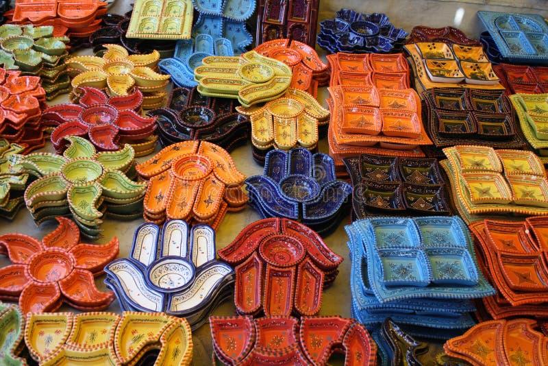 tunisian keramik royaltyfri fotografi