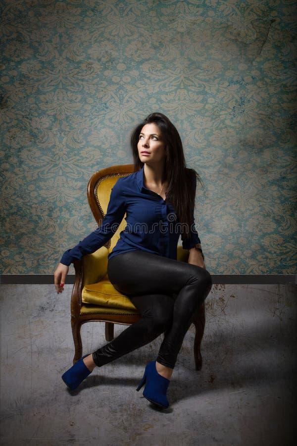 Tunisian model fashionable shot stock photos