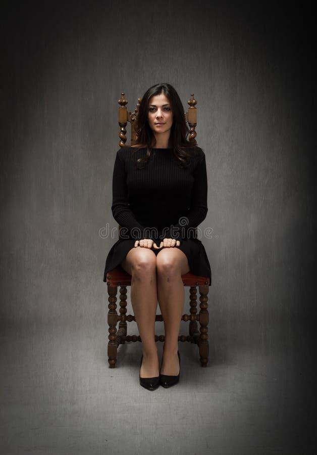 Tunisian model sitting royalty free stock image