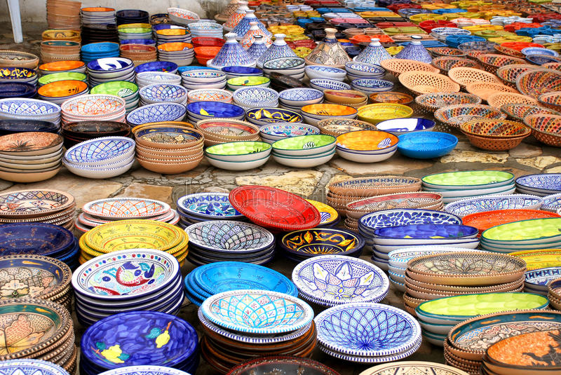 Download Tunisian Pottery Stock Image - Image: 24482971