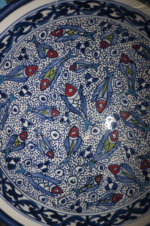 Tunisian pottery stock image