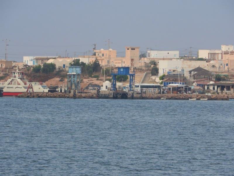 Tunisie Tunisie du Sud Ile de Djerba Houmt Souk Che Túnez de Le port de p Isla del sur de T?nez Djerba Houmt Souk Pesca imagenes de archivo