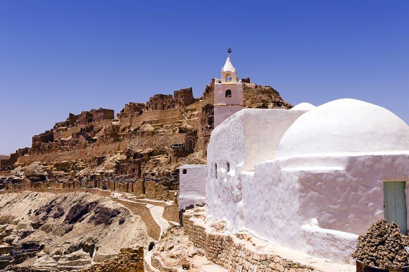 Tunisie Het dorp van Chenini stock foto