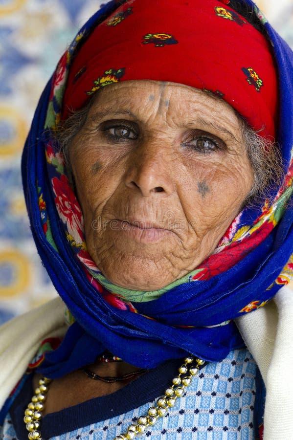 Tunisie. Kairouan. Woman berber stock photos